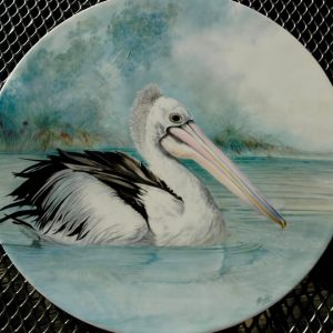 Hand Painted Pelican Porcelain Tile - Debbi Good