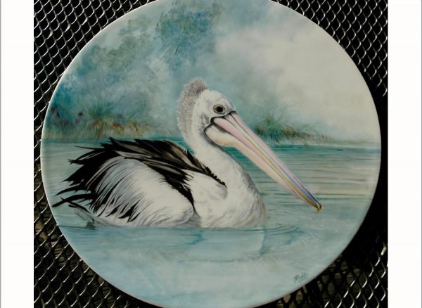 Hand Painted Pelican Porcelain Tile - Debbi Good