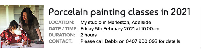Porcelain Painting Classes Adelaide - Debbi Good Porcelain Artist